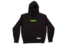 Load image into Gallery viewer, DMY Neon Green Embroidered Logo Black Hoodie