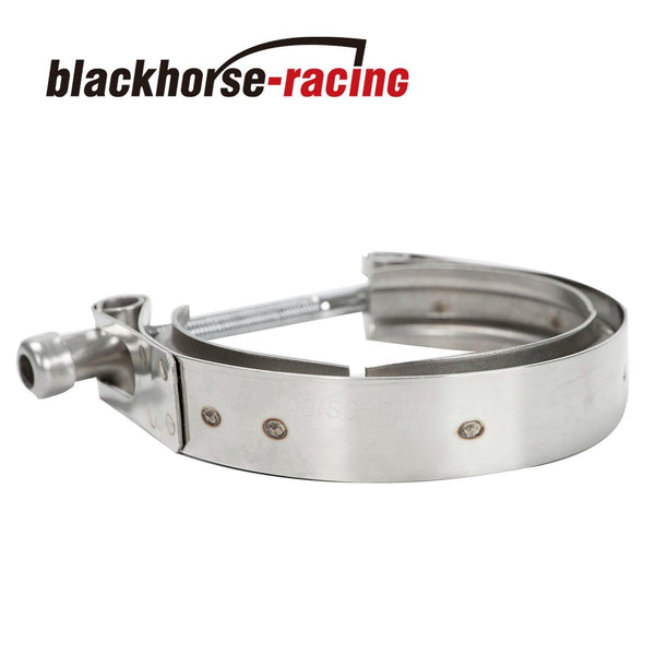 BLACKHORSE-RACING 2.5'' SS V-Band Flange Clamp Kit Male/Female Turbo Downpipe