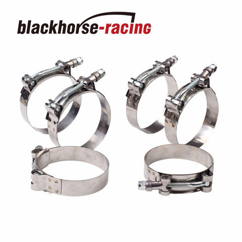 "6PC For 1'' Hose (1.26""-1.46"") 301 Stainless Steel T Bolt Clamps 32mm-37mm"