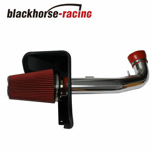 Fit 09-13 Silverado Sierra 1500 V8 Cold Air Intake Kit+ Heat Shield Red Filter