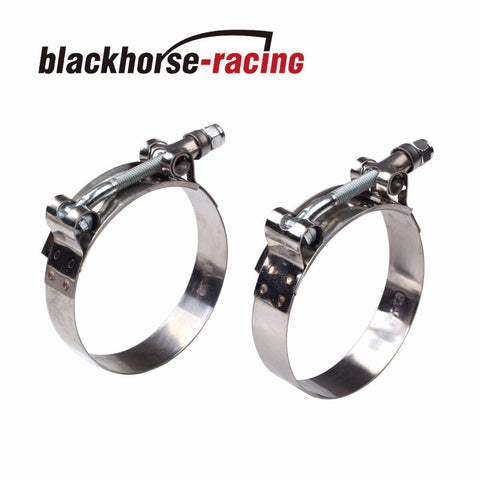 "2PC For 4'' Hose (4.25""-4.57"") 301 Stainless Steel T Bolt Clamps 108mm-116mm"