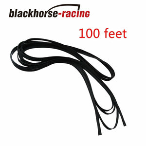 "100 FT 3/8"" Expandable Wire Cable Sleeving Sheathing Braided Loom Tubing Black"