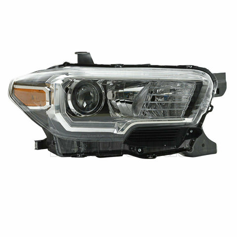 Black Projector Headlights w/LED DRL Right Passenger For 2016-2019 Toyota Tacoma