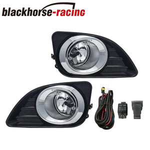 Fits 2010-2011 Toyota Camry Clear Bumper Lamps Driving Fog Lights+Switch