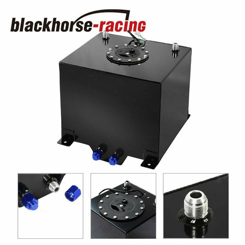 10 GALLON /38 LITER FUEL CELL TANK+LEVEL SENDER KIT BLACK ALUMINUM RACE DRIFT