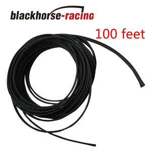 "100 FT 1/4"" Expandable Wire Cable Sleeving Sheathing Braided Loom Tubing Black"