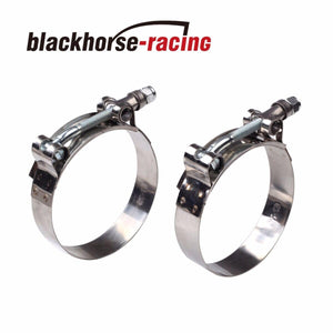 "2PC For 2-1/8'' Hose (2.36""-2.68"") 301 Stainless Steel T Bolt Clamps 60mm-68mm"