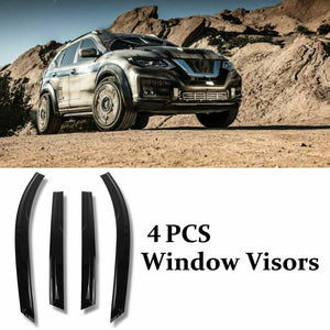 For 2014-17 Nissan Rogue Smoke Tint Window Visor Wind Deflector Vent Rain Guard