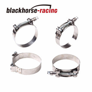 "4PC For 3'' Hose (3.27""-3.58"") 301 Stainless Steel T Bolt Clamps 83mm-91mm"