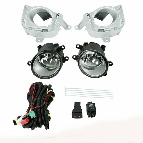 Front Bumper Fog Lights Driving Lamp w/Wiring+Switch Fit 2010 2011 Toyota Prius