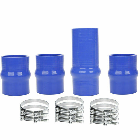 INTERCOOLER BOOT KIT SILICONE BLUE WITH CLAMPS FOR 2003-2007 DODGE Cummins
