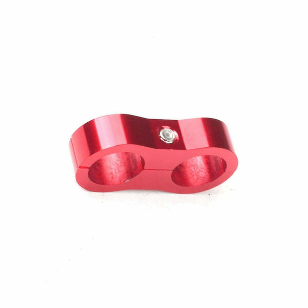Red AN10 Oil Fuel Water Hose Turbo Separator Clamp Adapter Bracket Billet