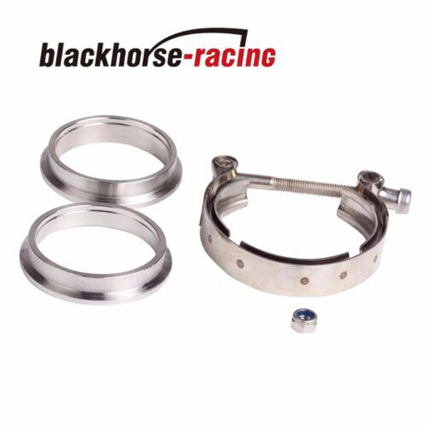 3.5'' V-Band Flange & Clamp Kit for Turbo Exhaust Downpipes Stainless Steel