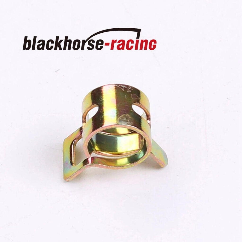 10 Pcs 11mm Spring Clips Fuel Hose Line Water Pipe Clamps Fasteners BLACKHORSE-RACING 6mm 10 Feet 1//4 High Performance Silicone Vacuum Hose