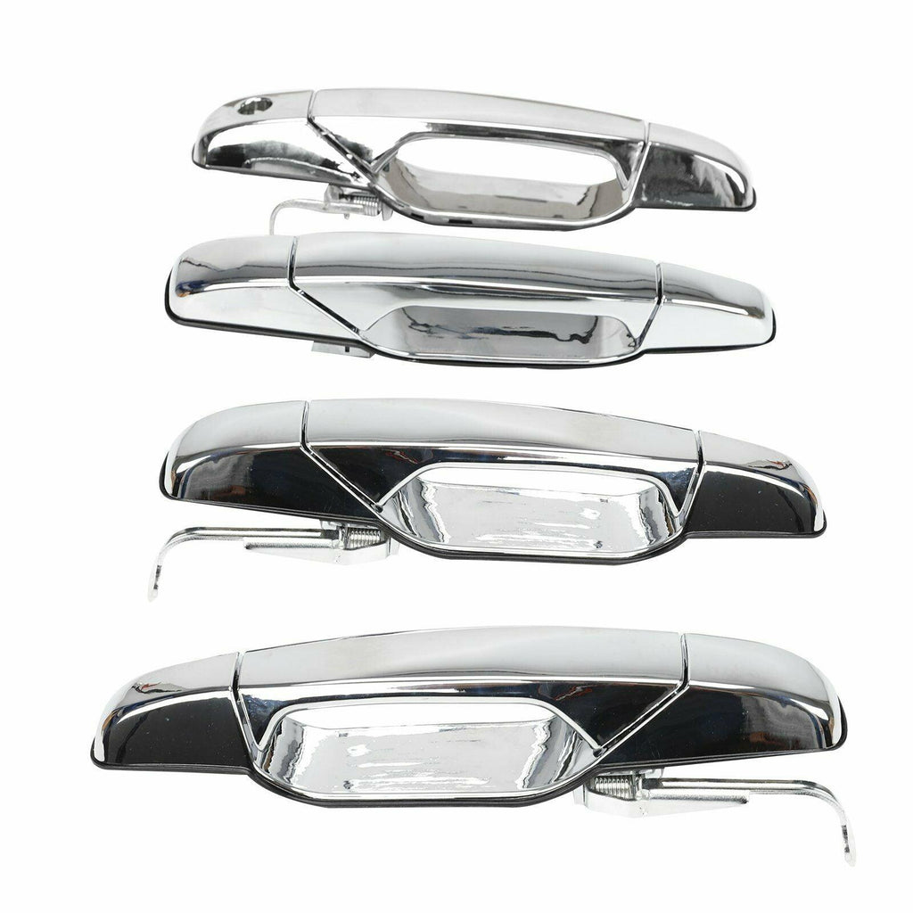 Rear Left Driver Exterior Chrome Door Handle for 07-13 Chevrolet GMC Cadillac