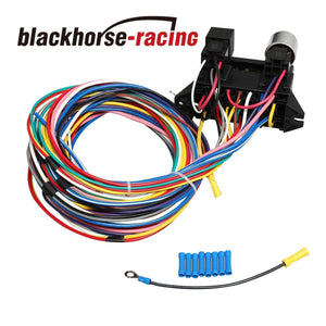 NEW 12 CIRCUIT WIRE HARNESS MUSCLE CAR HOT ROD STREET ROD XL WIRES UNIVERSAL