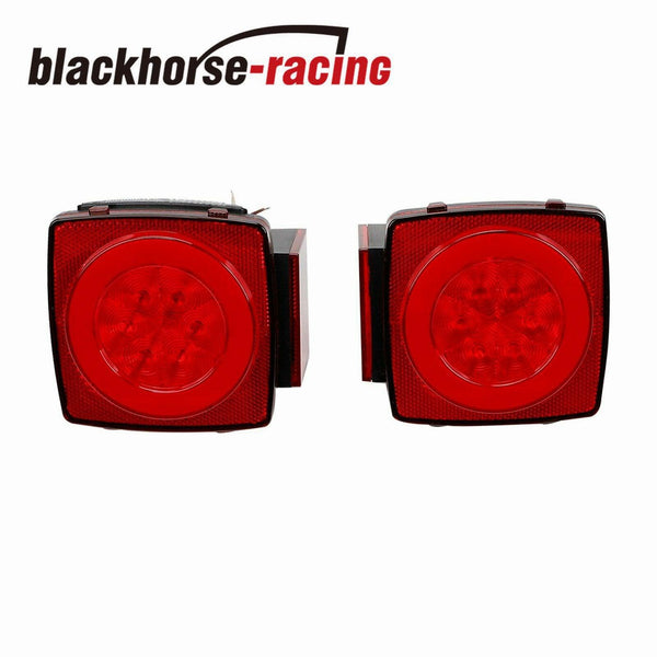 Rear LED Submersible Trailer Tail Lights Kit Marker Truck Waterproof IP68