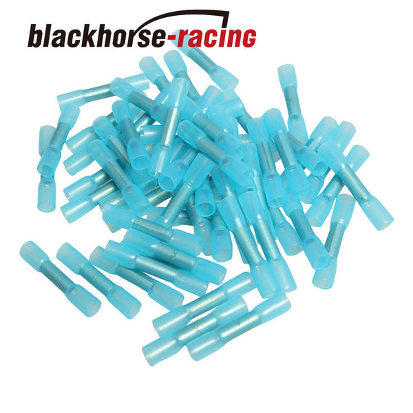 500X BU 14-16 Waterproof Heat Shrink Sleeves Connectors Electrical Wire Terminal