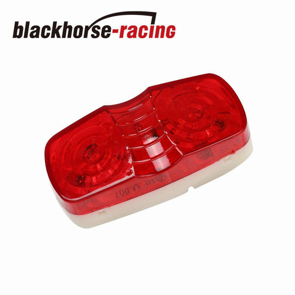 Pair LED Trailer Marker Light 10 Diodes Red Double Bullseye Clearance