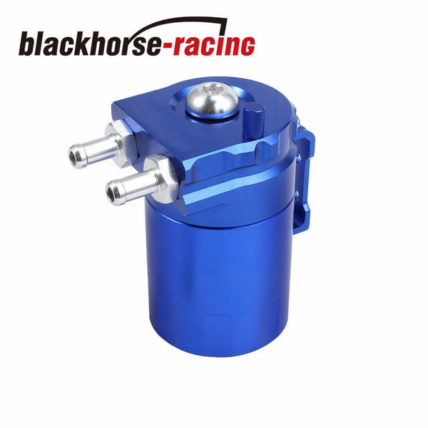 BLUE TANK/CAN W/ FILTER CYLINDER ALUMINUM ENGINE OIL CATCH RESERVOIR BREATHER