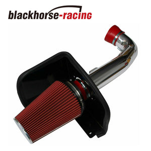 RED Cold Air Intake Kit + Heat Shield for 09-13 Chevy/GMC 1500 V8  4 8L/5 3L/6 0L