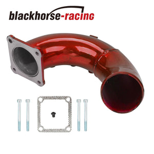 High Flow Red Intake Elbow Tube For 1998.5-2002 Dodge Ram 5.9L Cummins Diesel