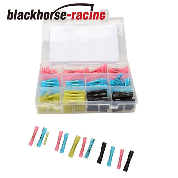200Pcs Heat Shrink Butt Connectors Crimp Wire Splice Waterproof Terminal