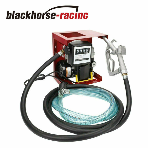 New 110V Electric Oil Fuel Diesel Gas Transfer Pump W/Meter 13' Hose Manual
