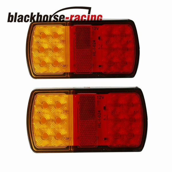 2pcs 12 LED 12V Trailer Lights Tail Stop Indicator Lamp Truck Boat Submersible