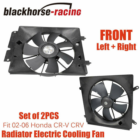 Radiator & AC Condenser Cooling Fan Assembly Pair Fit 2002-2006 Honda CR-V CRV