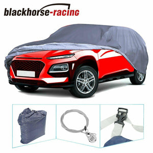 BLUE Full SUV Car Cover w/Lock Waterproof Breathable Sun UV Rain Dust Resistant