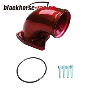 Red Intake Elbow Fits Ford 6.0L Powerstroke Diesel 6.0 F250 F350 F450 2003-2007