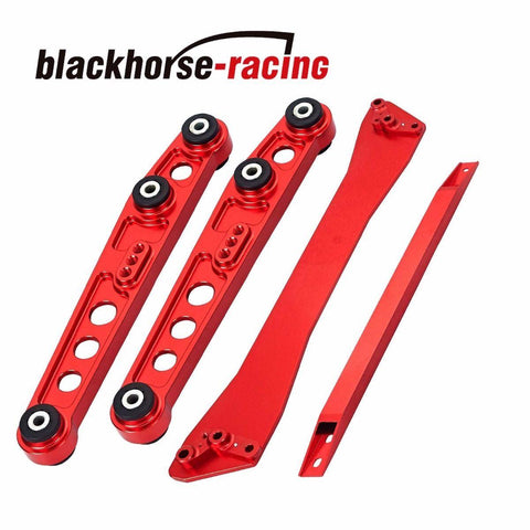 Rear Lower Control Arm Subframe Brace Tie Bar Fits Honda Civic 92-95 EG Red