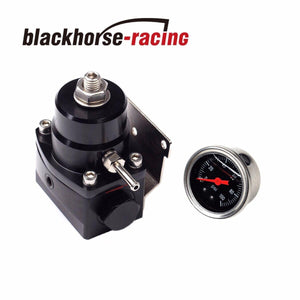 Universal Adjustable Fuel Pressure Regulator+100psi Gauge Kit 6AN Fitting End