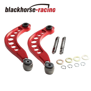 RED ANODIZED REAR UPPER CAMBER CORRECTION KIT FOR HONDA CIVIC 1.8L 2.0L 2006-15