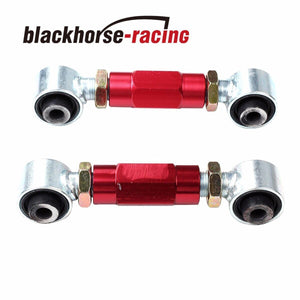FITS 92-95 HONDA CIVIC EG6 EJ1 RED REAR LOWERING SUSPENSION TOE ARM BAR KIT