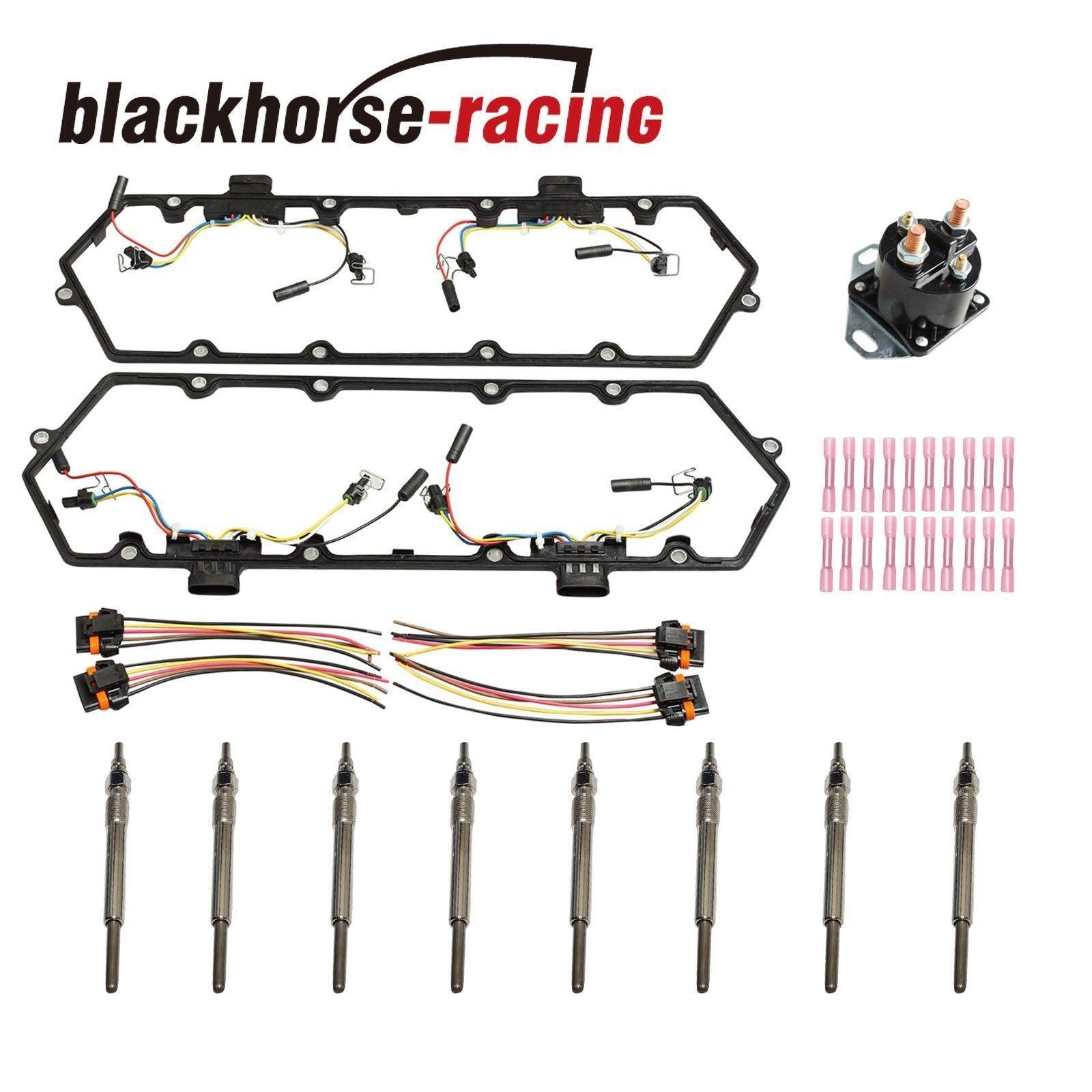 New Glow Plugs & Relay+Valve Cover Gaskets Harnesses For 7.3L 94-97 Powerstroke