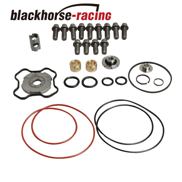 Bellowed Up Pipes+Housing&Turbo Pedestal+Turbo Rebuild Kit For 99.5-03 Ford 7.3