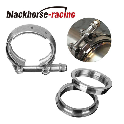"2.5/"" Stainless Steel V-Band Flange /&Clamp Kit Male//Female Turbo Exhaust Downpipe"