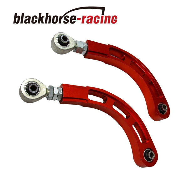 FOR MITSUBISHI LANCER 02-17 SPHERICAL BEARING ADJUSTABLE REAR CAMBER ARM KIT RED