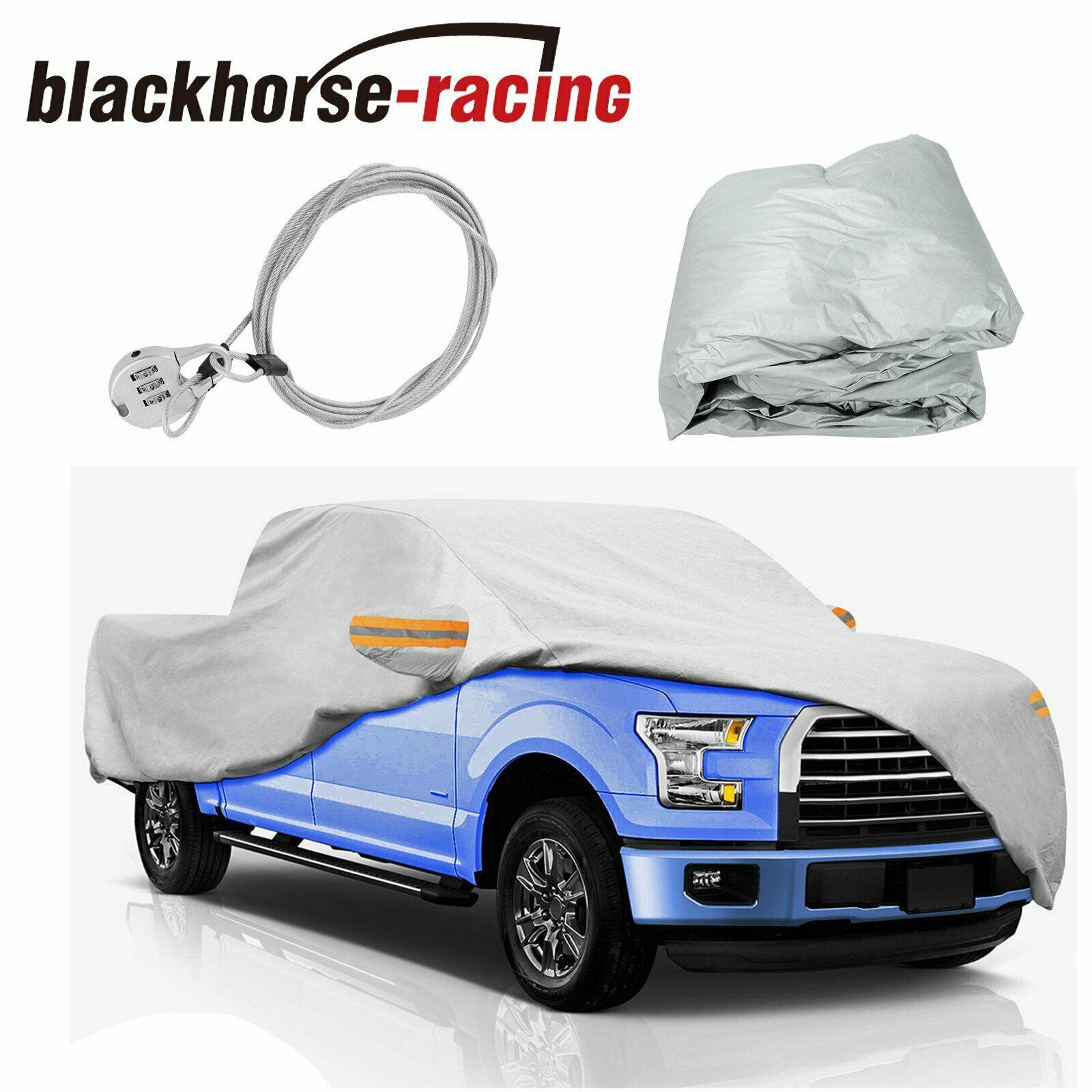 19 Feet Waterproof Truck Pickup Full Car Cover Fit Ford F-150 w/ Anti-theft Lock