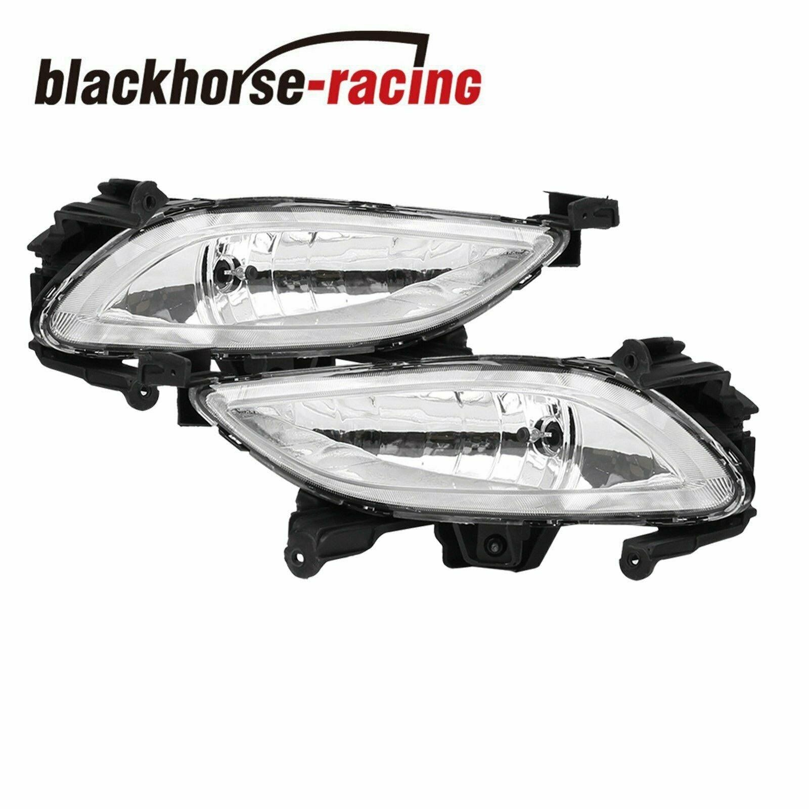 For 2011-2013 Hyundai Sonata Clear Front Bumper Driving Fog Lights Lamps LH RH
