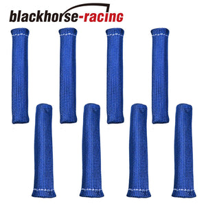 8 PCS 1800¡ã Spark Plug Wire Boots Heat Shield Protector Sleeve SBC BBC Blue