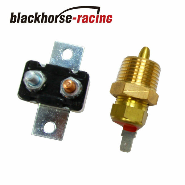 3/8'' Thread Electric Radiator Engine Fan Thermostat Temperature Switch Relay Kit