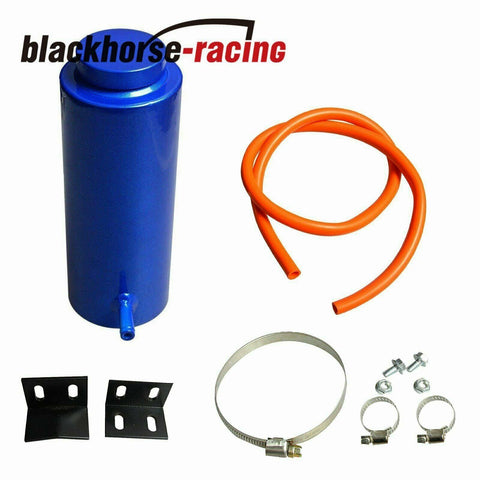 800ML Universal Blue Radiator Coolant Aluminum Catch Tank Overflow Reservoir Kit