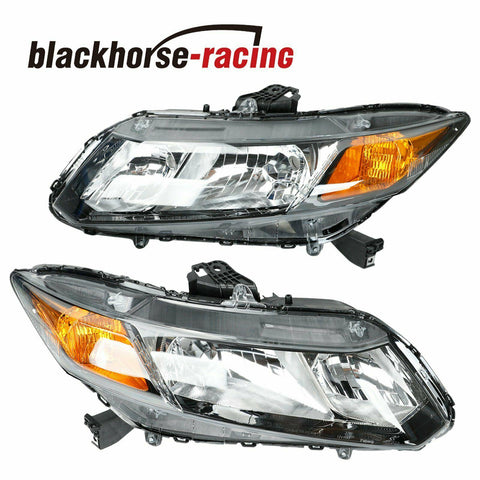 For 2012-2015 Honda Civic 4Dr Sedan Headlights Headlamps Replacement Left+Right