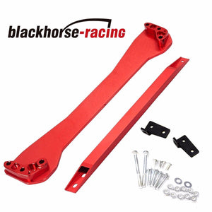 Fits 1996-2000 EK Honda Civic Red Rear Tie Bar Subframe Brace + Tie Bar