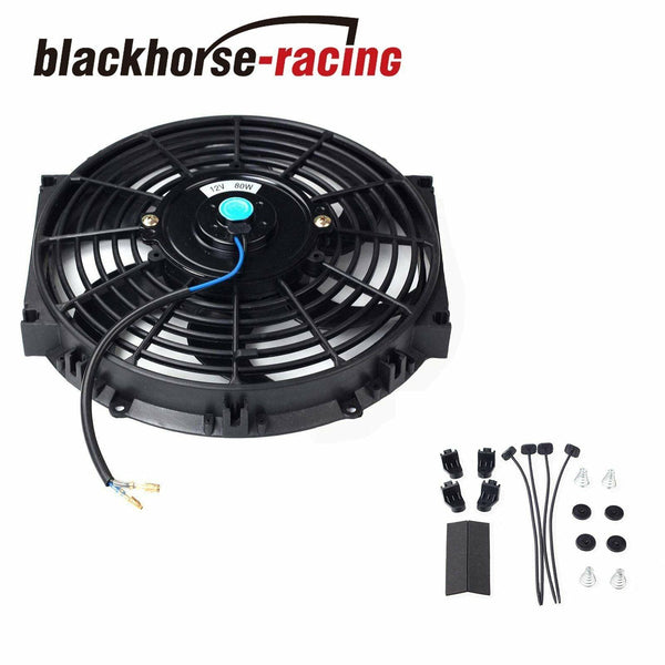 10'' ELECTRIC RADIATOR/ENGINE COOLING FAN+MOUNTING ZIP TIE KITS BLACK 10''