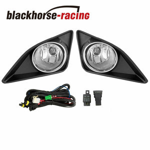 Clear Lens Fog Lights Driving + Switch w/ Bulb For 09-10 Toyota Corolla CE S LE
