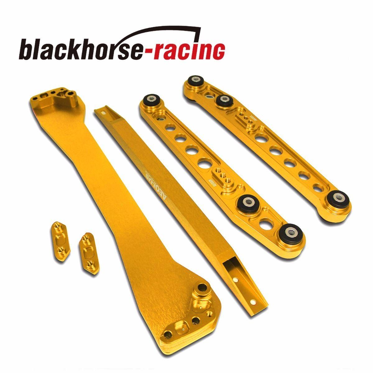 For Honda Civic EK 1996-2000 Rear Lower ControlArm Subframe Brace Tie Bar Gold